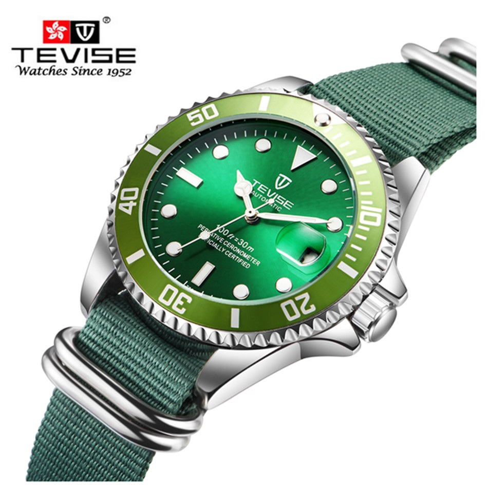 Hot Tevise Top Brand Men Mechanical Watch Automatic Role Fashion luxury Submariner Clock  Male Reloj Hombre Relogio Masculino