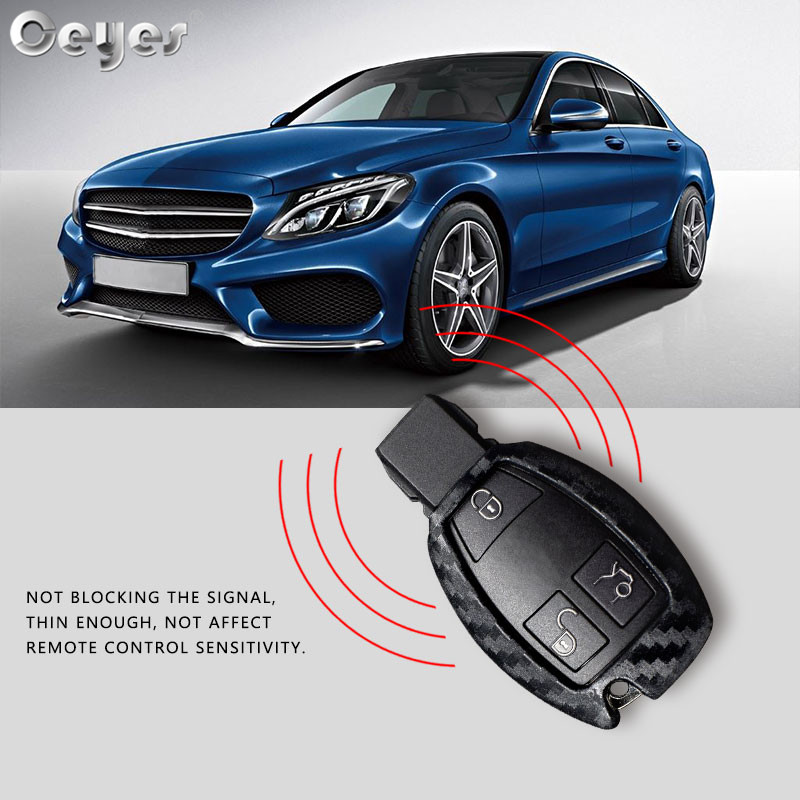 Image 4 - Ceyes Car Styling Auto Carbon Fiber Shell Covers Case For Mercedes Benz Cla CLS R350 C200 C180 E260L S320 GLK300 C S Accessories-in Car Stickers from Automobiles & Motorcycles