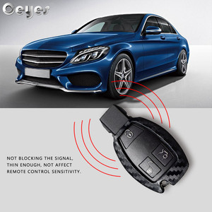 Image 4 - Ceyes Car Styling Auto Carbon Fiber Shell Covers Case For Mercedes Benz Cla CLS R350 C200 C180 E260L S320 GLK300 C S Accessories