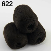 High Quality 100 Pure Cashmere Luxury Warm And Soft Hand Knitting Yarn Brown 233 622