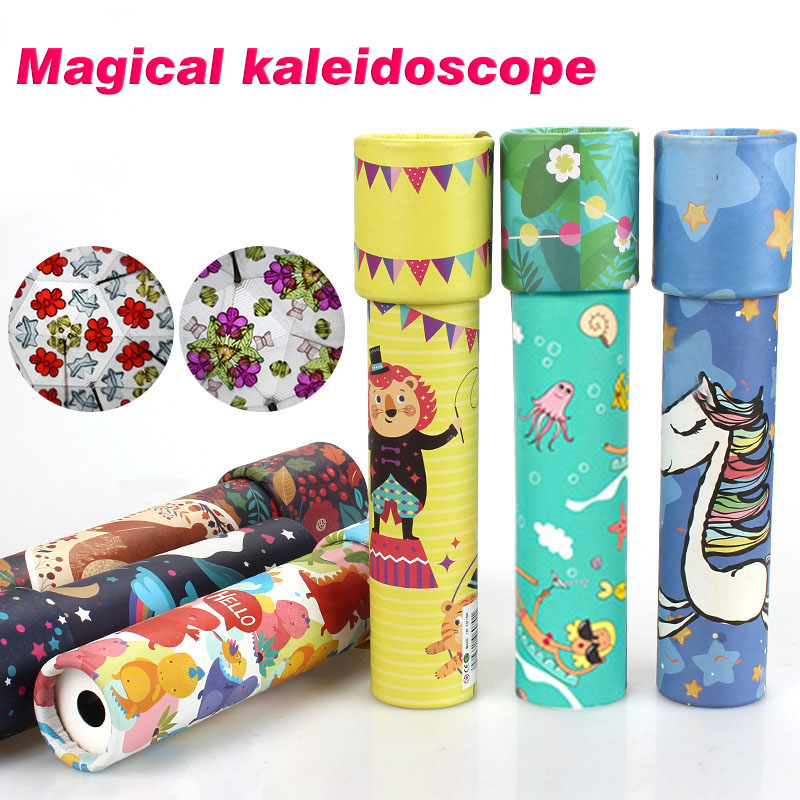 Children Classic Toy Kaleidoscope Rotatable Top Toddler Sensory Toys