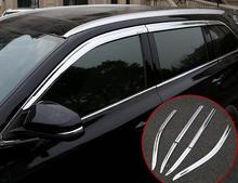 ABS Chrome plastic Window Visor Vent Shades Sun Rain Guard 4pcs for Toyota Highlander 2015 2016 2014 недорого