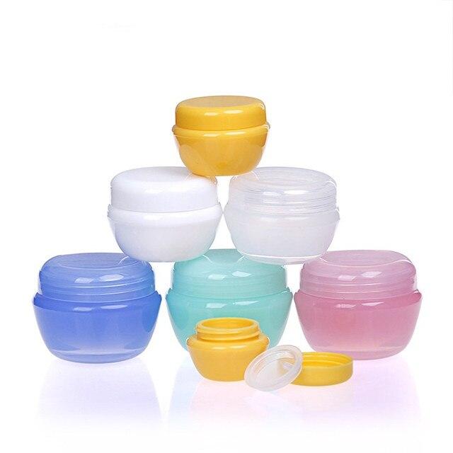 5g/10g/30g * 2pcs Cosmetic Sub Travel Bottles Plastic Empty Makeup Cream Container Pot Jar Travel Accessories(Random color) Bag Parts & Accessories