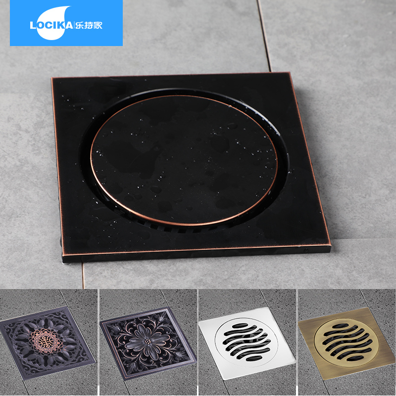Chrome Plated Brass Bathroom Accessory 4 Inches Square Style Drain Cleaner Shower Ground Grate Drainer Pump