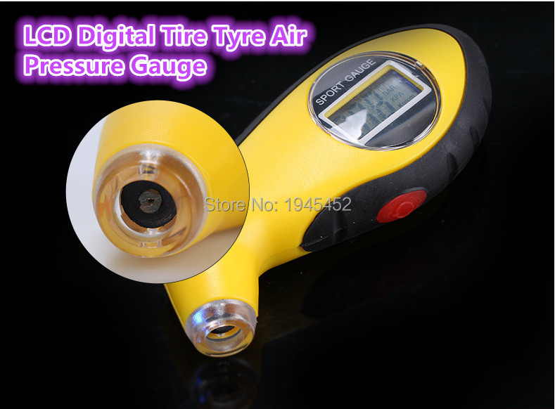 New arrival!good quality!LCD Digital Tire Tyre Air Pressure Gauge Tester Meter Tool For Auto Car Motorcycle