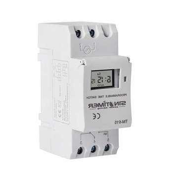 цена на Sinotimer Tm-615H-30A Electronic Weekly 7 Days Programmable Digital Time Switch Relay Timer Control Ac 220V 30A Din Rail Mount