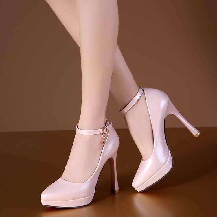 2017 woman pumps white wedding shoes women high heel shoes platform shoes sy-1887 3