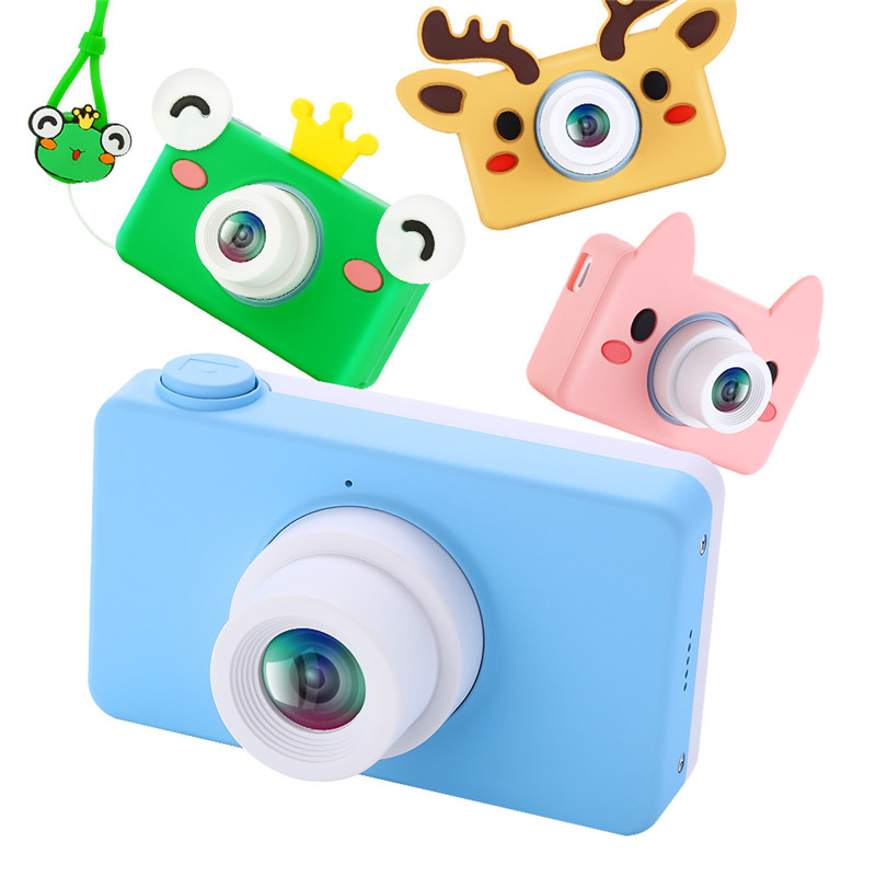 Kids Camera 2.0 Inch 8MP HD Video Digital Cameras Children Cam Camcorder Christmas Birthday Gifts For Boys Girls With 16GB Card