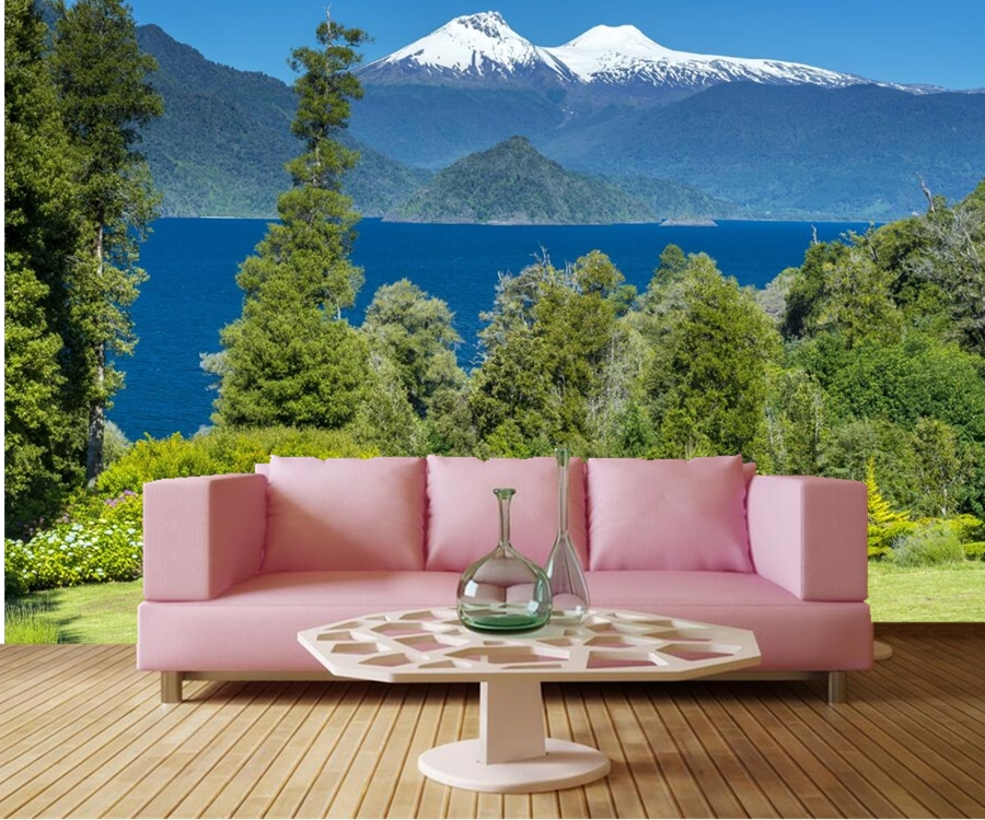 Custom murals,Chile Scenery Parks Mountains Rivers Nature wallpaper,hotel living room sofa tv wall bedroom 3d wall mural free shipping custom murals worn coloured wood wall mural bedroom living room tv backdrop wallpaper