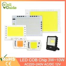 5W~100W AC 220V Integrated COB LED Lamp Chip 50W 30W 20W 10W Smart IC Driver High Lumens For DIY Floodlight Spotlight
