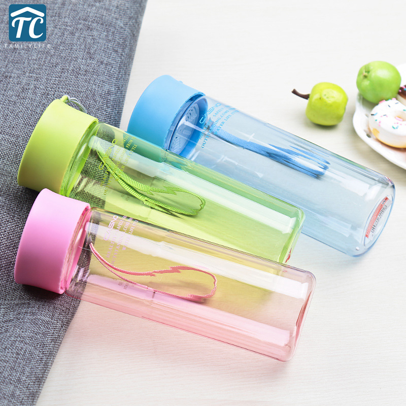 600ml Water Bottles Tour Outdoor Sport School Leak Proof Seal Plastic Drinkware Camping Drinking Drop Resistant Portable Fashion