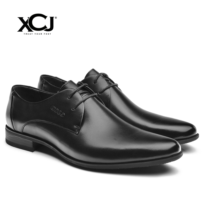 Genuine Leather Men Shoes Men Dress Shoes Brand Men Formal Men Classic Casual Flats Business Gentleman Spring Autumn Solid XCJ fashion men shoes genuine leather men casual shoes brand luxury men s business classic gentleman shoes handmade high quality