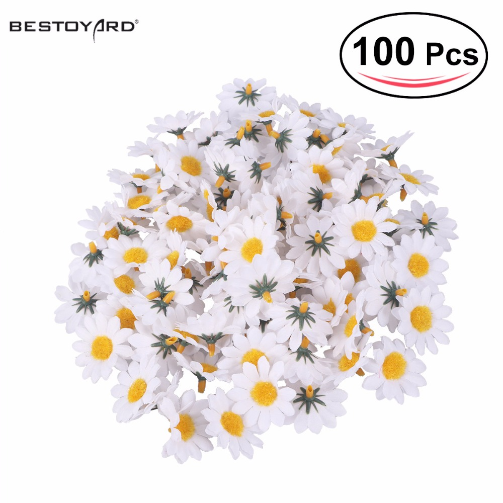 Online get cheap daisy flowers artificial aliexpress 100pcs artificial gerbera daisy flowers heads for diy wedding party whitechina dhlflorist Gallery