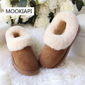 The latest high-quality women's snow boots in Europe in 2019, real sheepskin, 100% wool, free delivery, women's shoes
