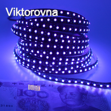 12V Ultraviolet UV LED Blacklight Waterproof non/IP65 Night Fishing 395nm 120leds/m 60leds/m 3528 SMD black PCB LED Strip Light(China)