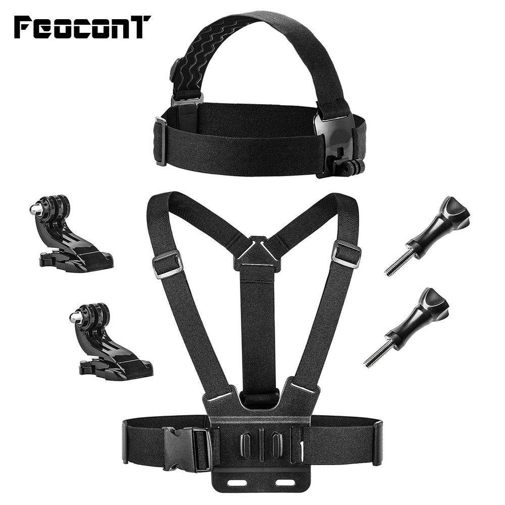 FeoconT חזה וראש רצועת הרצועה הר עבור Gopro - מצלמה ותצלום