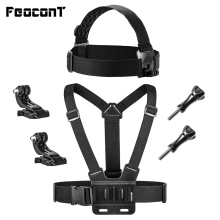 FeoconT Chest e Head Strap Harness Mount per Gopro Hero 6 5 Fusion 4 3 Session Black per fotocamera SJ