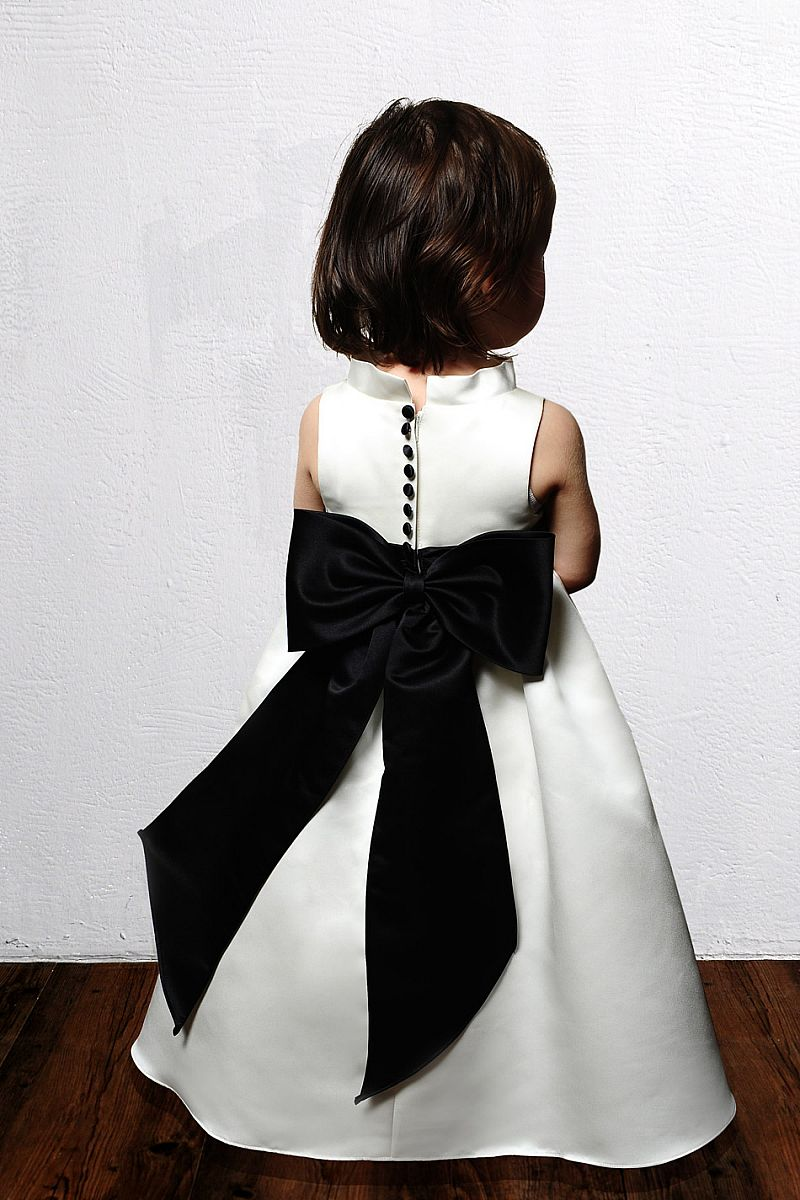 Black And White Flower Girl Dress Fashion Dresses