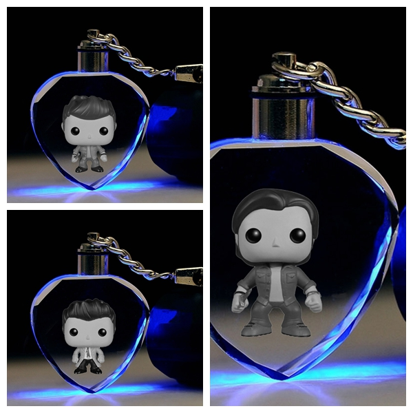 Jewelry Sets & More Jewelry & Accessories Batman Wonder Woman Heart Shape Anime Led Key Chains Logo Model Keyring Crystal Toy Keychain Light Keyholder Xmas Gift Lover