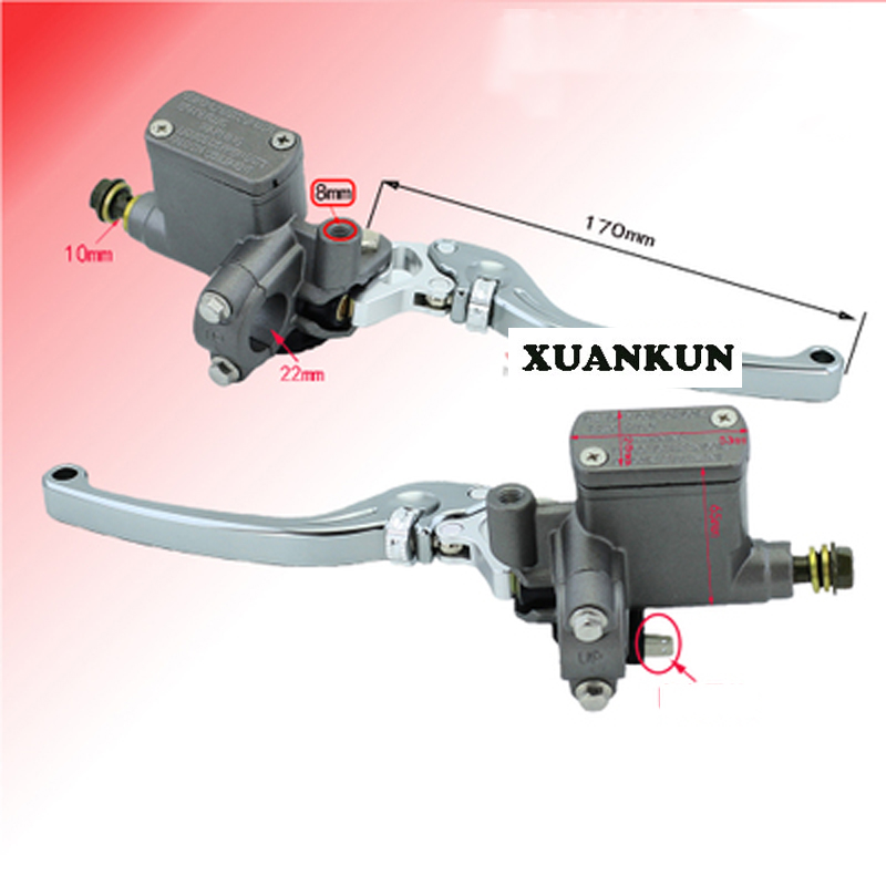 XUANKUN  Motorcycle Disc Brake On The Pump Electric Car Before And After The Disc Brake On The Pump Brake xuankun off road motorcycle electric car atv modified front and rear disc brake cnc handle brake hand brake on the pump