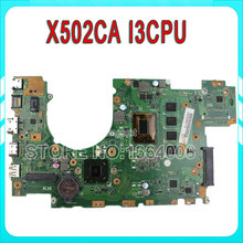for ASUS X502CA REV2.1 8pcs video card Laptop Motherboard I3 CPU mainboard 60NB0010-MB5058 100% tested