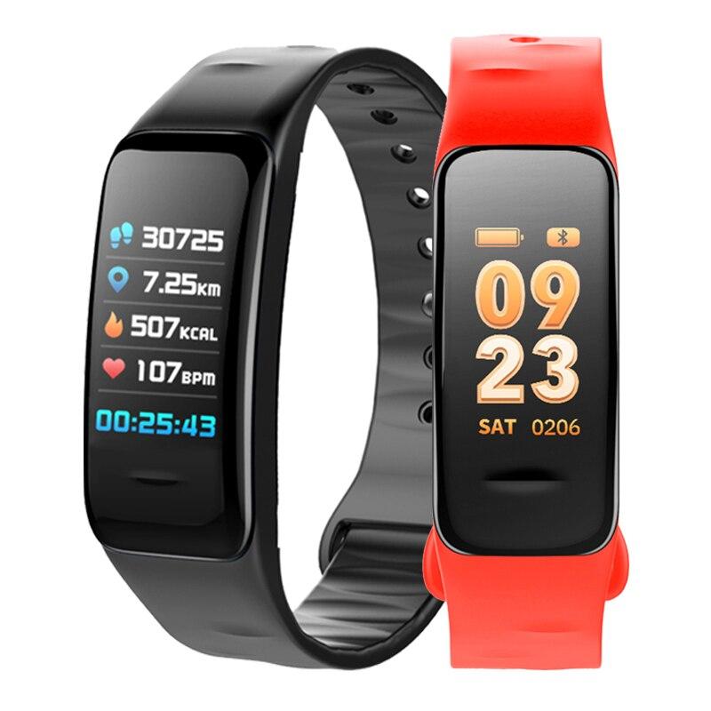 RUIJIE C1S Color Screen Fitness Tracker Smart Bracelet Heart Rate Monitor Blood Pressure Blood Oxygen Measurement Band