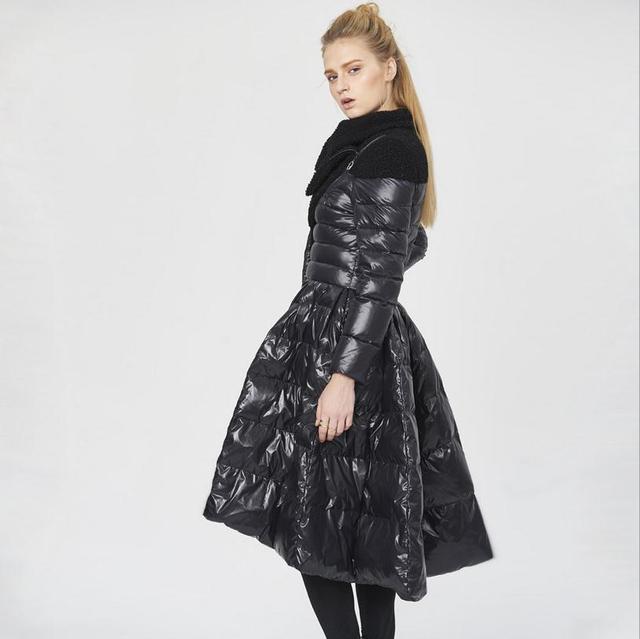 2016 nova moda Magro balanço grande 90% Branco duck down pakas casaco Europa design criativo jaqueta de camuflagem mais thiscker w1234