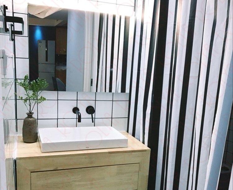 Vouruna matte zwarte wastafel kraan wandmontage badkamer tap