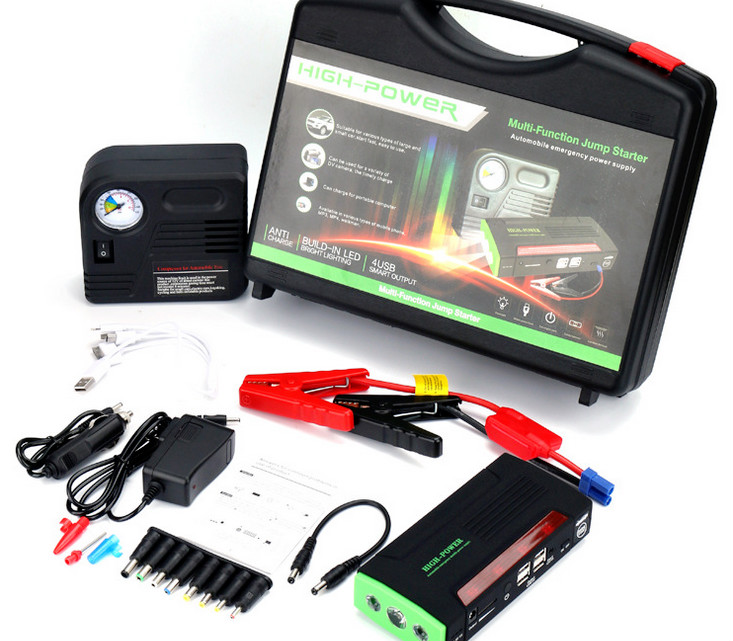 68800mAh 12V Car Jump Starter 4USB battery charger with Air Pump for auto vehicle starting &Laptop Power Bank LED SoS