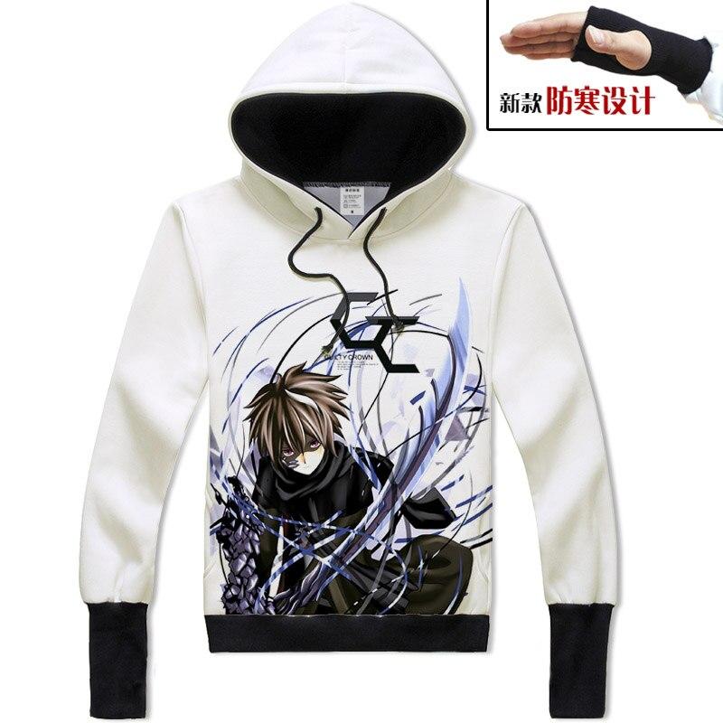 [XHTWCY] sweats à capuche de la couronne coupable 2019 veste de jeu d'anime d'action Cardigan cosplay homme femmes sweat-shirt à capuche de la couronne coupable Hip Hop