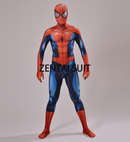 Ultimate Spiderman Costume 3D Shade Spandex Cosplay Halloween Spider Man Superhero Costume 2016 Newest Fullbody Zentai