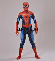 Ultimate Spiderman Costume 3D Shade Spandex Cosplay Halloween Spider-man Superhero Costume 2016 Newest Fullbody Zentai Suit