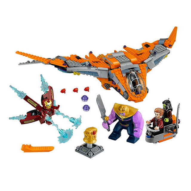 76107 Marvel Super Heroes Avengers Infinity War Thanos Ultimate Battle Model Building Blocks Set Toys For Children Legoing 07103