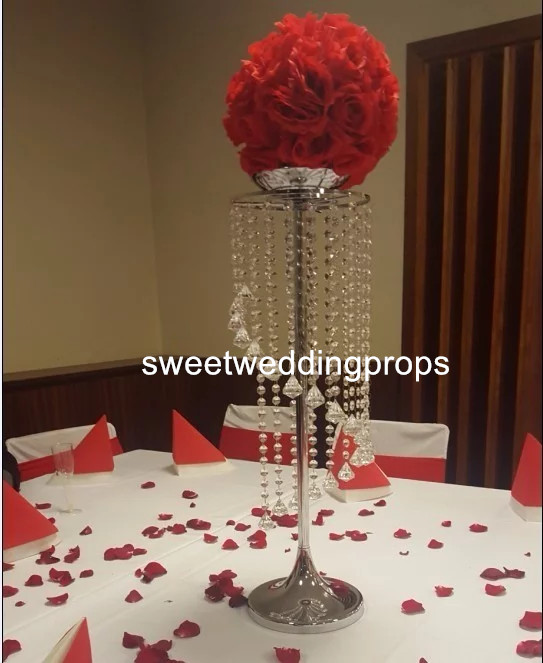 Us 350 0 No Flowers Including Metal Elegant Crystal Bead Ball Gold Silver Wedding Centerpieces In Glow Party Supplies From Home Garden On