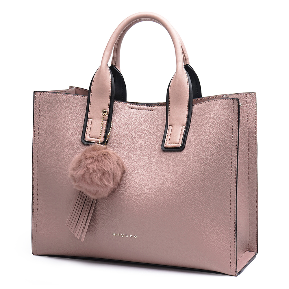 Miyaco marque femmes sac à main fourre-tout sacs pour femmes Messenger sac sacs à main et sacs à main haut en cuir sac à main avec boule de fourrure gland