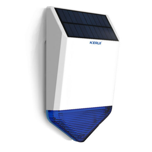 Solar Siren for Wireless home security alarm system