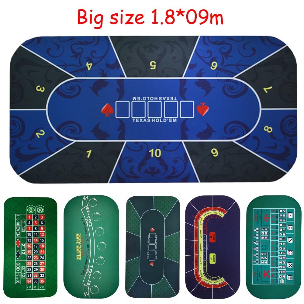 Big size 1 8 0 9mTexas Hold em Poker Black Jack Roulette Baccarat dice Betting Mat