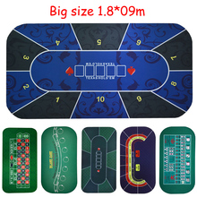 Big size 1.8*0.9mTexas Hold'em Poker Black Jack Roulette Baccarat dice Betting Mat rubber Gambling gaming pad