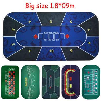 Große größe 1.8*0,9 m Texas Holdem Poker Black Jack Roulette Baccarat würfel Wetten Matte gummi Glücksspiel gaming pad
