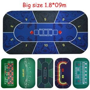 Big size 1.8*0.9m Texas Hold'em Poker Black Jack Roulette Baccarat dice Betting Mat rubber Gambling gaming pad(China)