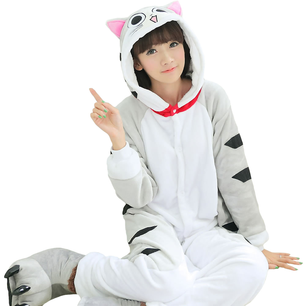 f8769d0c2e lindo Precioso ajedrez cat Onesie Unisex Adultos Kigurumi Pijama Moda  Animal Pijama de Una Pieza Pijamas de Una Pieza