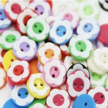 12.5mm four holes Buttons resin flower colorful for coat shirts Sweaters handmade Gift Box Craft DIY favor Sewing Wh(China)