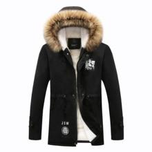 Модные Мех животных подклад куртки мужские парки для мужчин 2019 зима толстые теплые куртка и пальто для будущих мам повседневное пальто с hooded ш