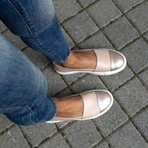 Image 3 - שטוח נעלי נשים מקרית סליפ ופרס Mocassin Femme פלטפורמת נעלי גבירותיי Wedage נעלי לנשים מטפסי Zapatos Mujer 2020