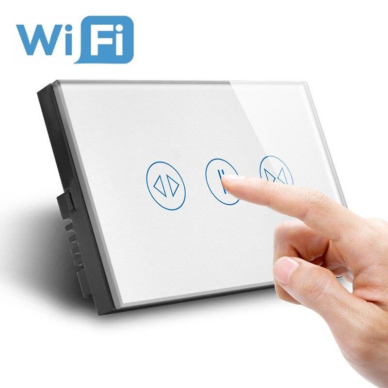 Mur WIFI rideau interrupteur système de maison intelligente volet roulant interrupteur WIFI 2.4 GHz téléphone APP Module d'automatisation intelligente bricolage nous AU