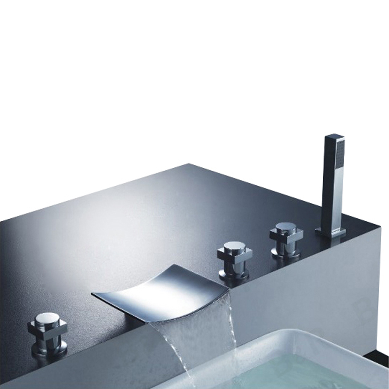 Spa Faucet Pedicure Spa Mixing Valve Bathtub Faucet Mixer: BAKALA Wholesale For The Bathroom Brass Chromed Bathtub
