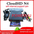 Nube HD DVB-S2 Receptor de Satélite powervu N4 N4 CloudHD Sin IKS youtube wifi interna camd freesat v8 súper nube n4 hd