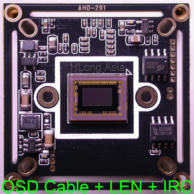 """AHD-H 1/2.8"""" Sony Exmor CMOS STARVIS IMX291 + NVP2441 CCTV camera module PCB board with OSD cable + M12 LENs + IRC support UTC"""