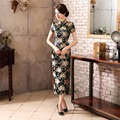 Free Shipping Ladies Long Cheongsam Qipao Traditional Chinese Dress  Long Qipao for sale Chinese Cheongsam dress 2 Style