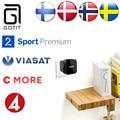 Suécia Dinamarca Noruega T95P Portabl Android 6.0 Caixa de TV IPTV Escandinavo Europa S905X 2 GB DDR 8 GB EMMC